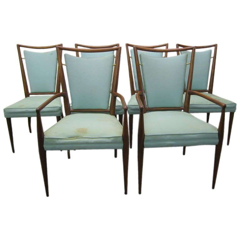 Set Of 6 Jstuart Clingman Dining Chairs For Widdicomb Mid Beauteous Dining Room Chairs Mid Century Modern Design Ideas