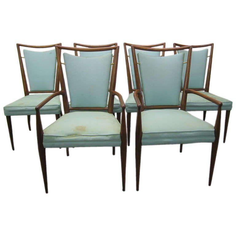of 6 J Stuart Clingman Dining Chairs for Widdi b Mid century Modern