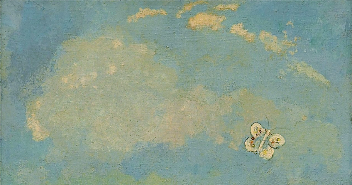 Odilon Redon (1840–1916) , Butterflies: retouched from wikimedia ...
