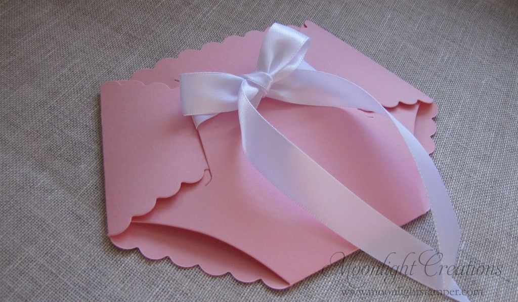 Homemade Baby Shower Invitations  Diaper Shaped Baby Shower