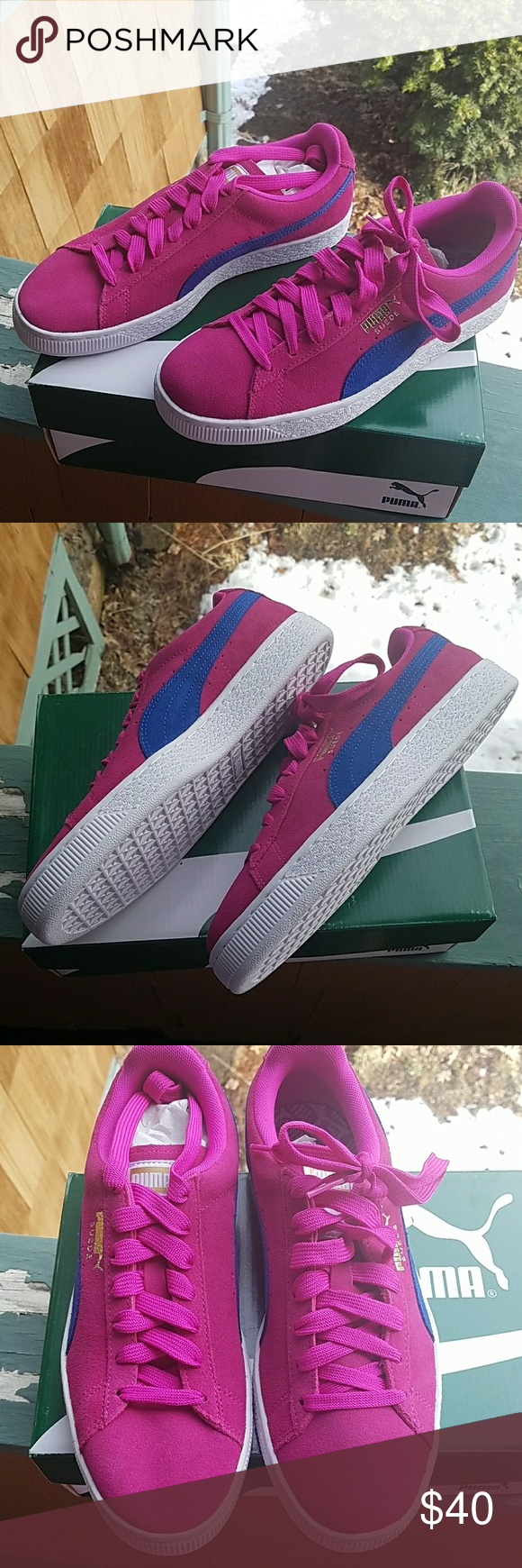 2cd53f6a98e7e3 Brand new Puma hot pink suede sneakers Brand-new in-the-box women s