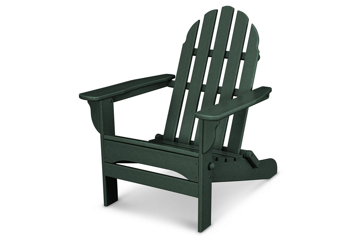 Polywood Emerson All Weather Adirondack Chair Green Pool