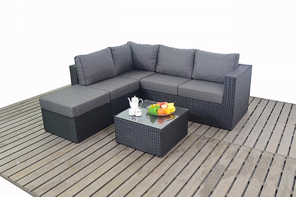 Bonsoni Rattan Garden Small Corner Sofa consists of two modular two