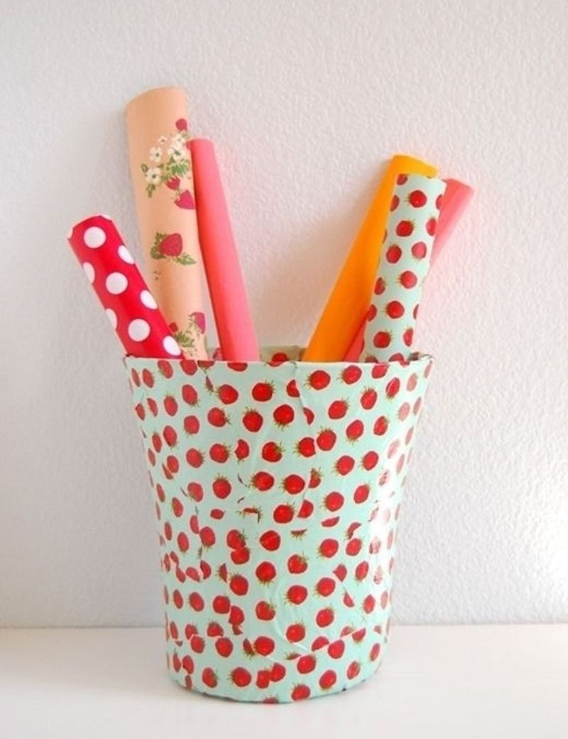 15. diy #trash can decor - 34 diy dorm room #decor projects to