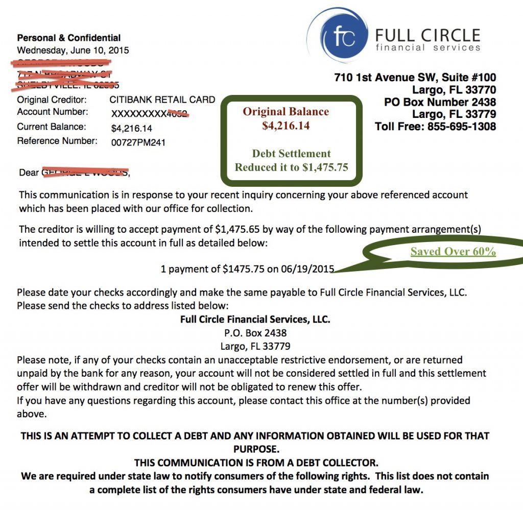 Debt Settlement Services Lettering, Letter templates, Debt