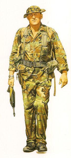 sergeant u s special forces cambodian border 1968 military art pinte. Black Bedroom Furniture Sets. Home Design Ideas