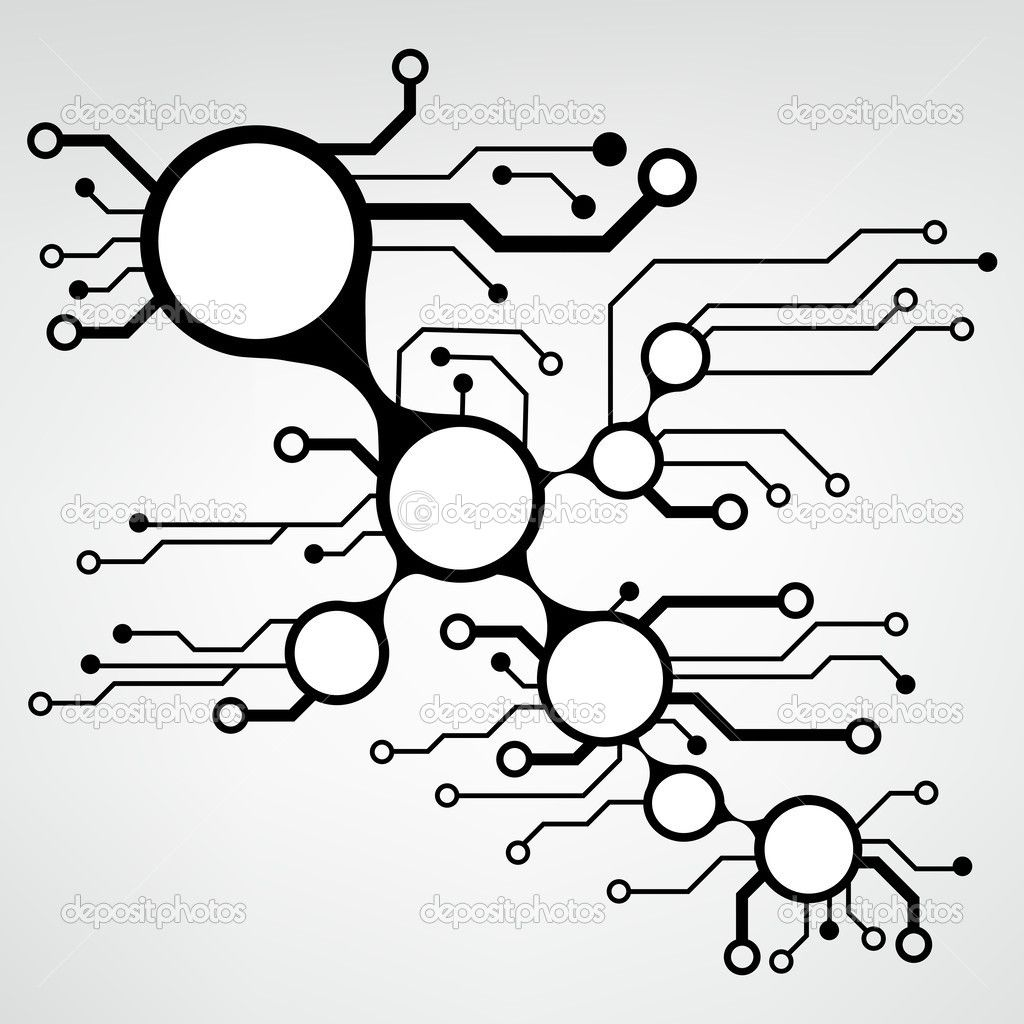 Bstract Circuit Board Techno Background Eps10 Vector