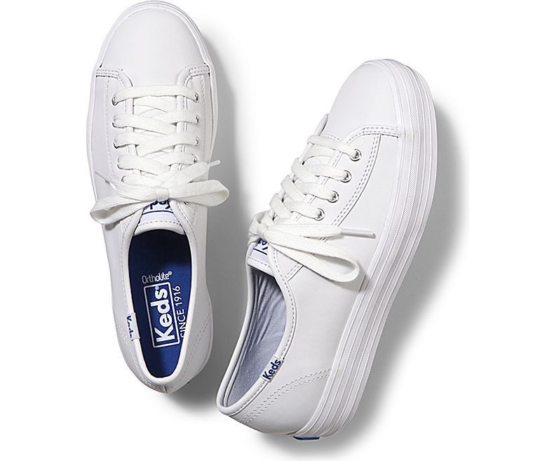 e3f799547a1 KEDS Triple Kick Leather.  keds  shoes  all. Triple Kick Leather in White  ...