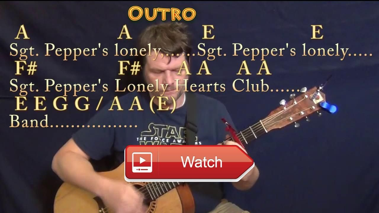 Sgt Peppers Lonely Hearts Club Band Reprise Beatles Guitar Chord