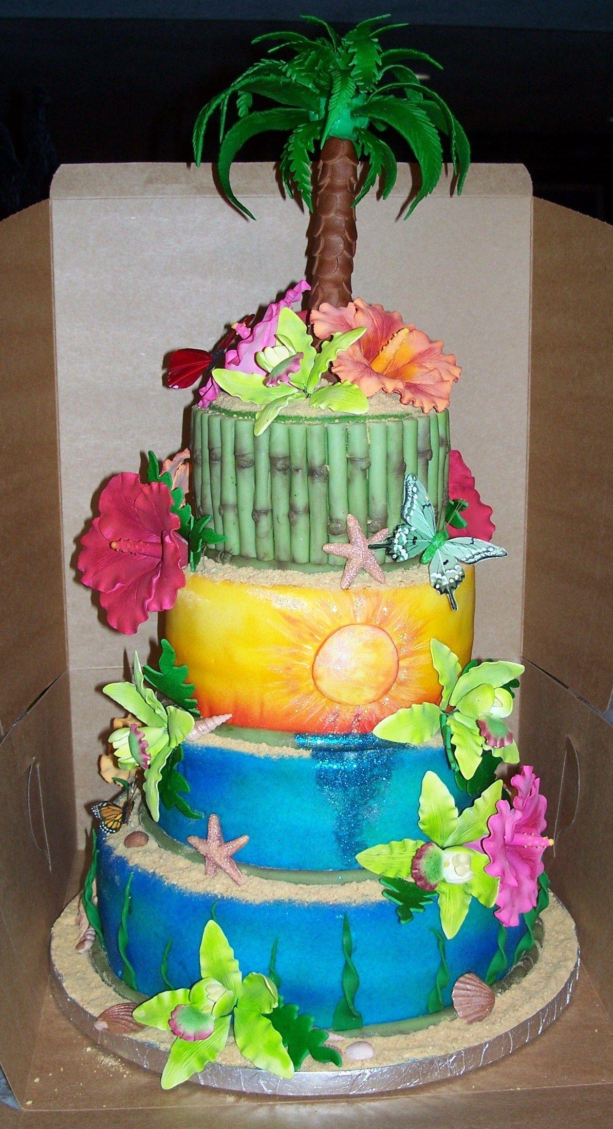 Luau birthday cake birthday cakes luau birthday cakes