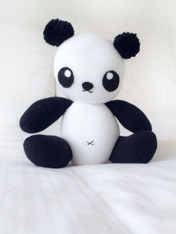 sock panda softie | Nähen | Pinterest | Sockentiere, Sockenpuppen ...