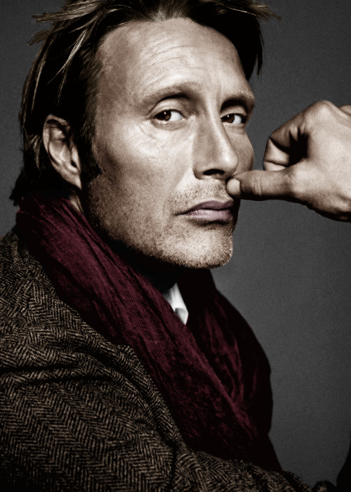 Mads Mikkelsen. So fine....he has just enough stubble here that I will put it in the beard board but he is just perfect always