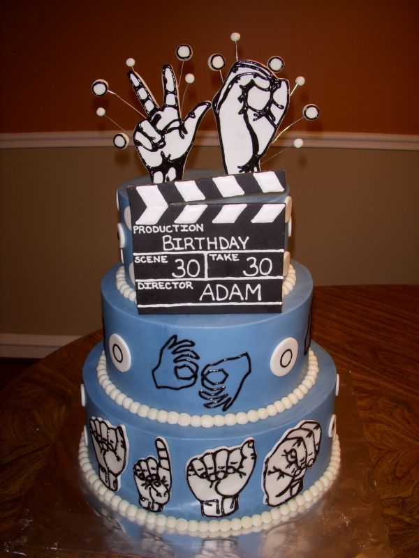 ASL CAKE Number Sign Print Outs On Top Instead Of Staved Candles Perfect For Deaf CODA Terp And Students Or Other Parties Like