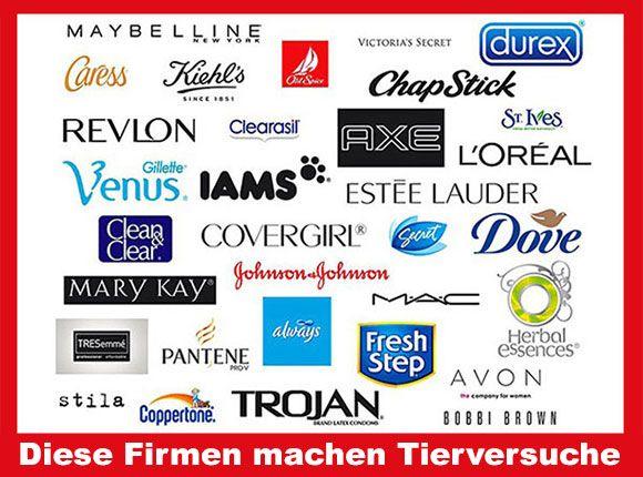 Firmen Die Tierversuche Durchführen Liste