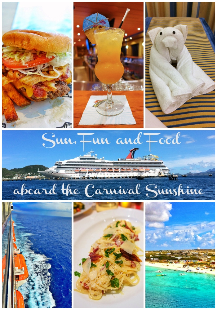 sun fun and food aboard the carnival sunshine 8 days in eastern caribbean stops in st maarten st kitts san juan and grand turk