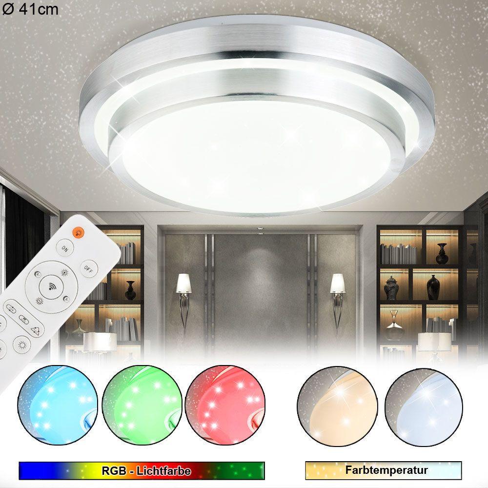 LED Deckenlampe mit Fernbedienung /& Sternenhimmel Leuchte fürs Bad Schlafzimmer