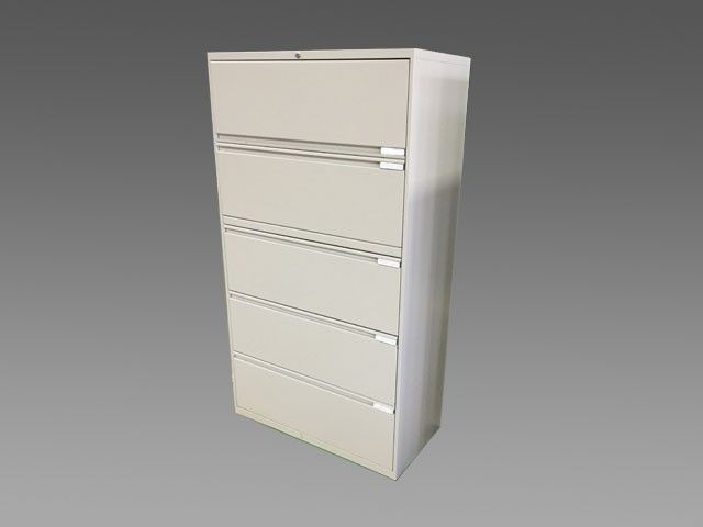 36 Teknion 5 Drawer Filing Cabinet W Flip Up Doors That Slide Away And A Cream Colored Finish Drawer Filing Cabinet Filing Cabinet Storage Cabinets