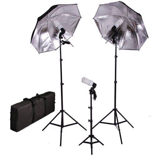 Amazon Com Cowboystudio Photography Video Portrait Umbrella Continuous Triple Lighting Kit Photographic Lighti Photography Supplies Photo Studio Umbrella