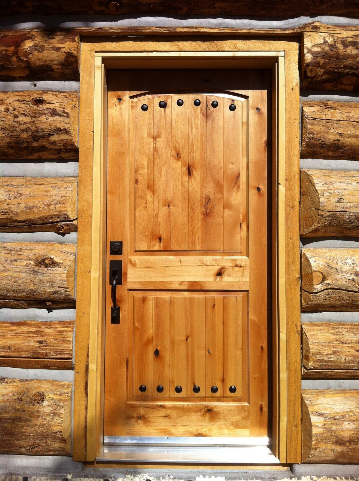 log home front door   Log Home Building - The Butt and Pass way ...