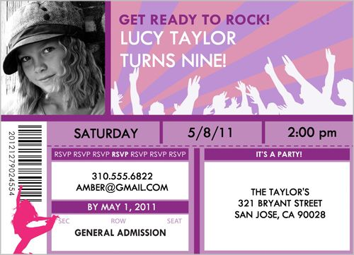 Ready to rock birthday invitation party time pinterest ready to rock birthday invitation bookmarktalkfo Gallery