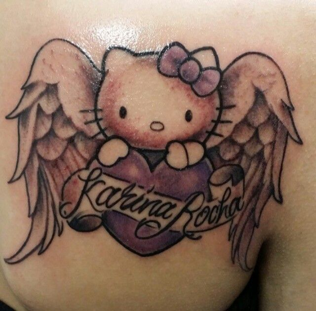 Hello Kitty Angel Memorial Tattoo Hello Kitty Tattoos Tattoos Body Art Tattoos