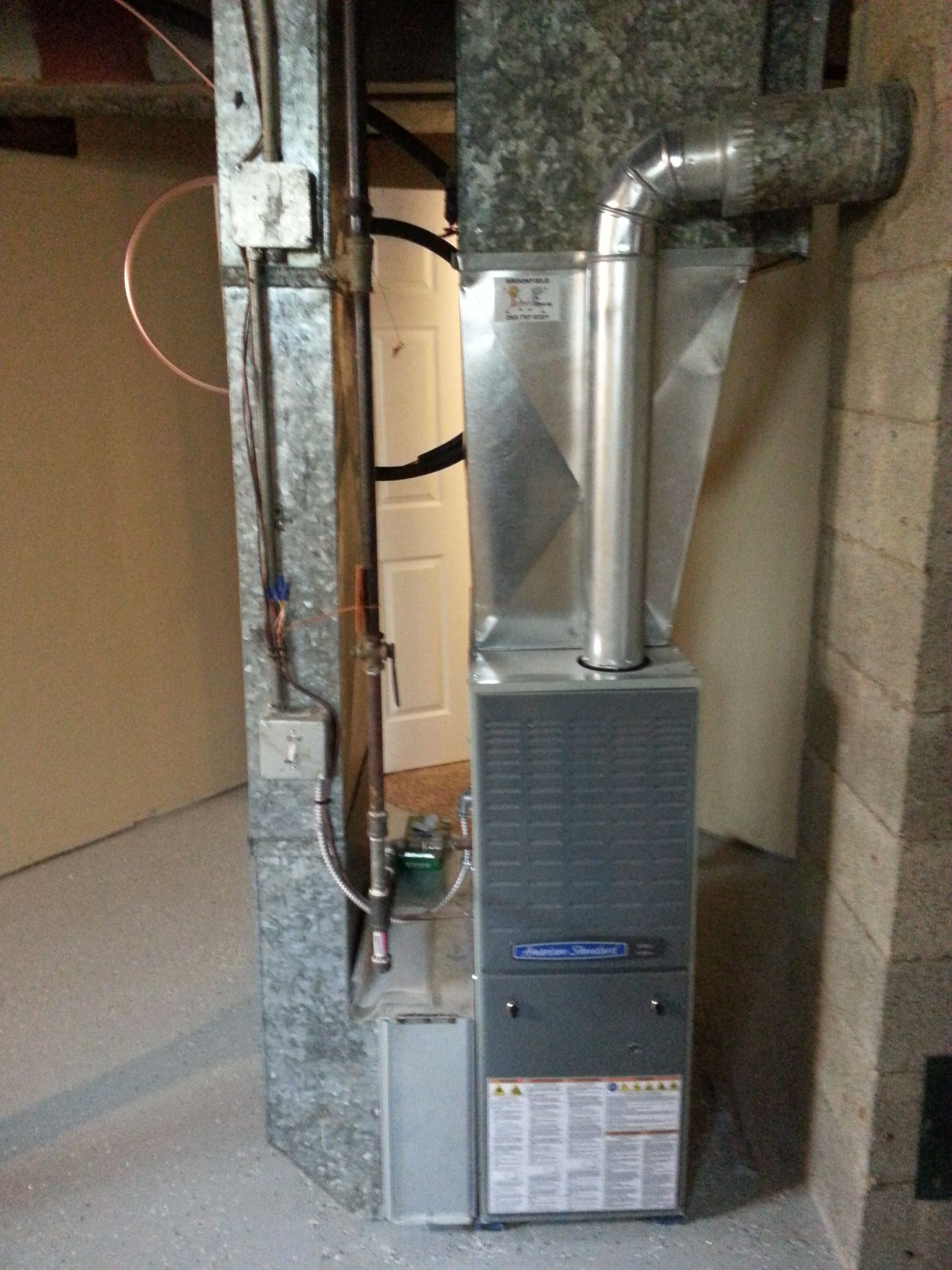 American Standard 80 Efficient Gas Furnace Heating
