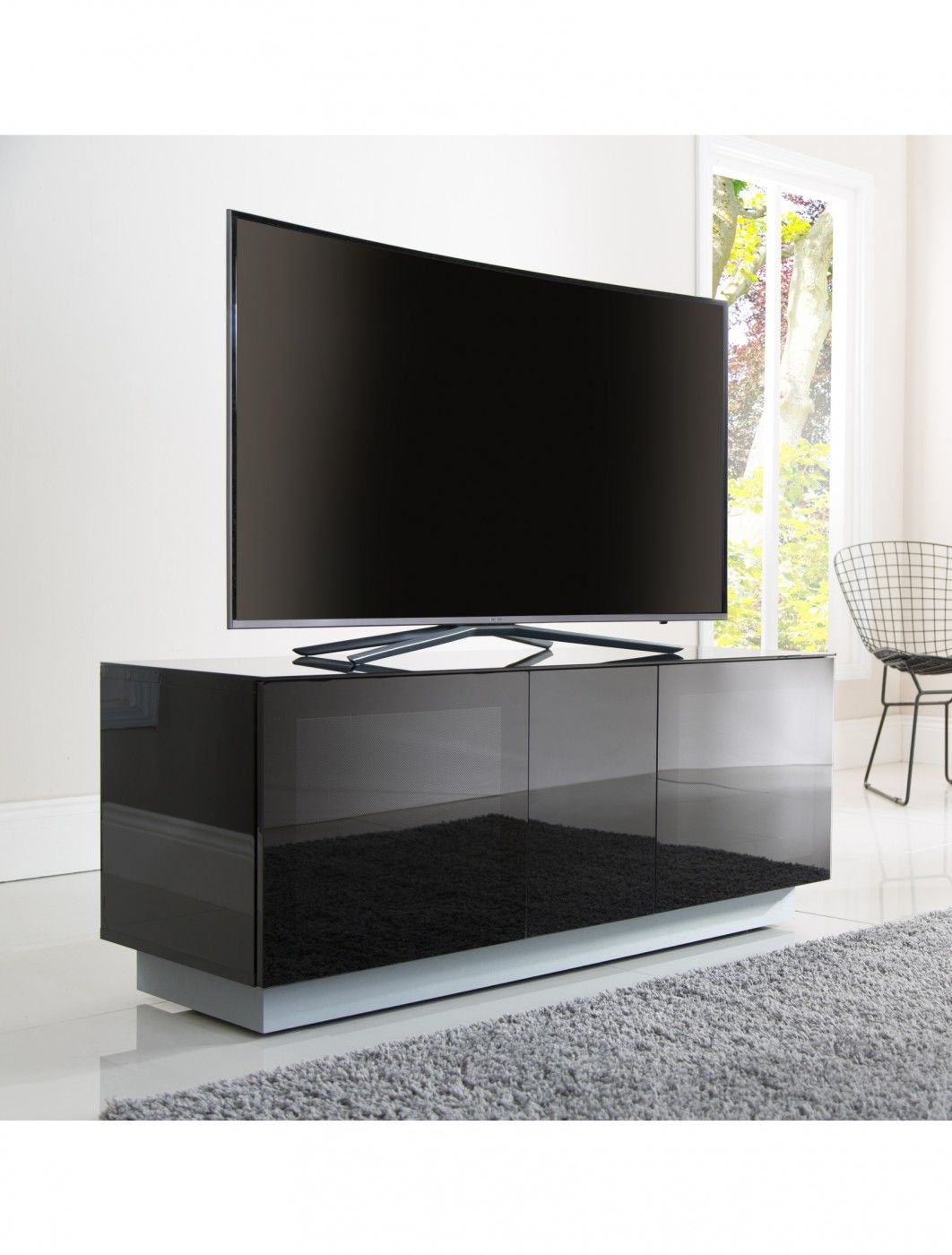 Alphason Element Modular 1250xl Tv Stand Emt1250xl Blk Https Www  # Alphason Meuble Tv