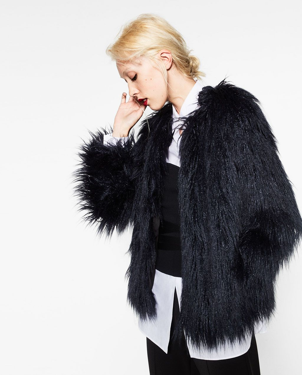 55a2acd31c SHORT FAUX FUR JACKET-View All-OUTERWEAR-WOMAN-SALE | ZARA United ...