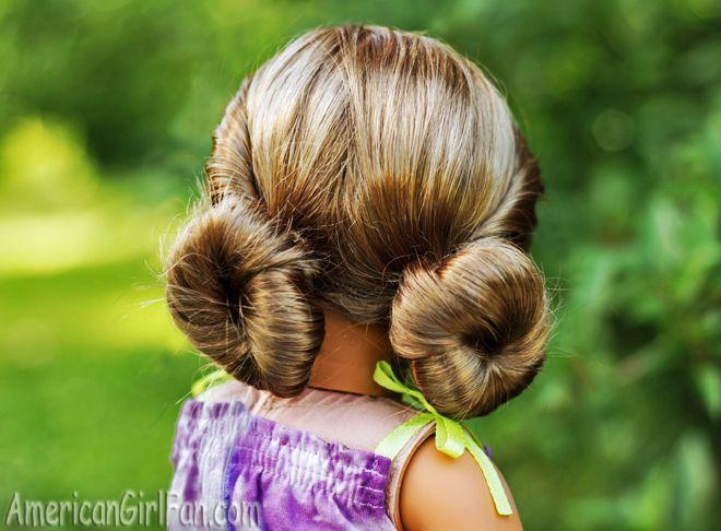 American Girl Doll Hairstyle Low Mini Buns American Girl Hairstyles American Girl Doll Hairstyles Teenage Girl Hairstyles