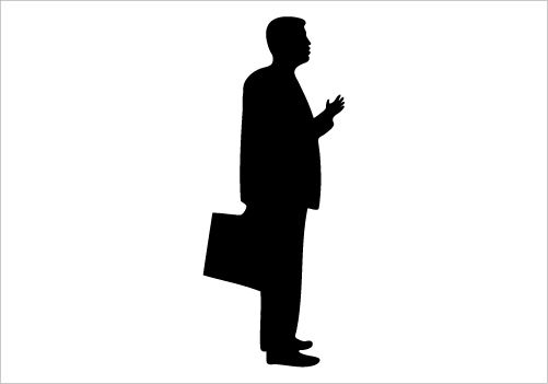 Businessman Silhouette Vector Standing Pose and having ...