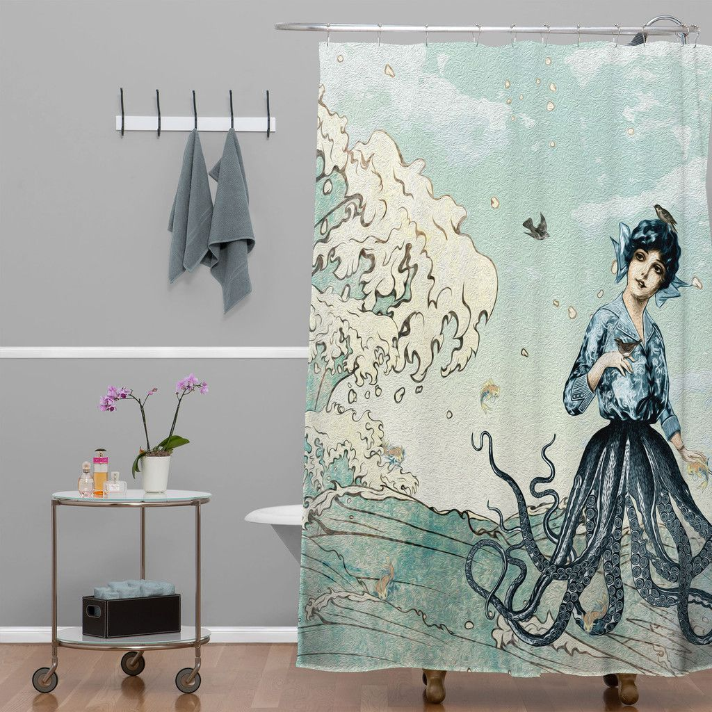 Belle13 Sea Fairy Shower Curtain Deny Designs Home Accessories