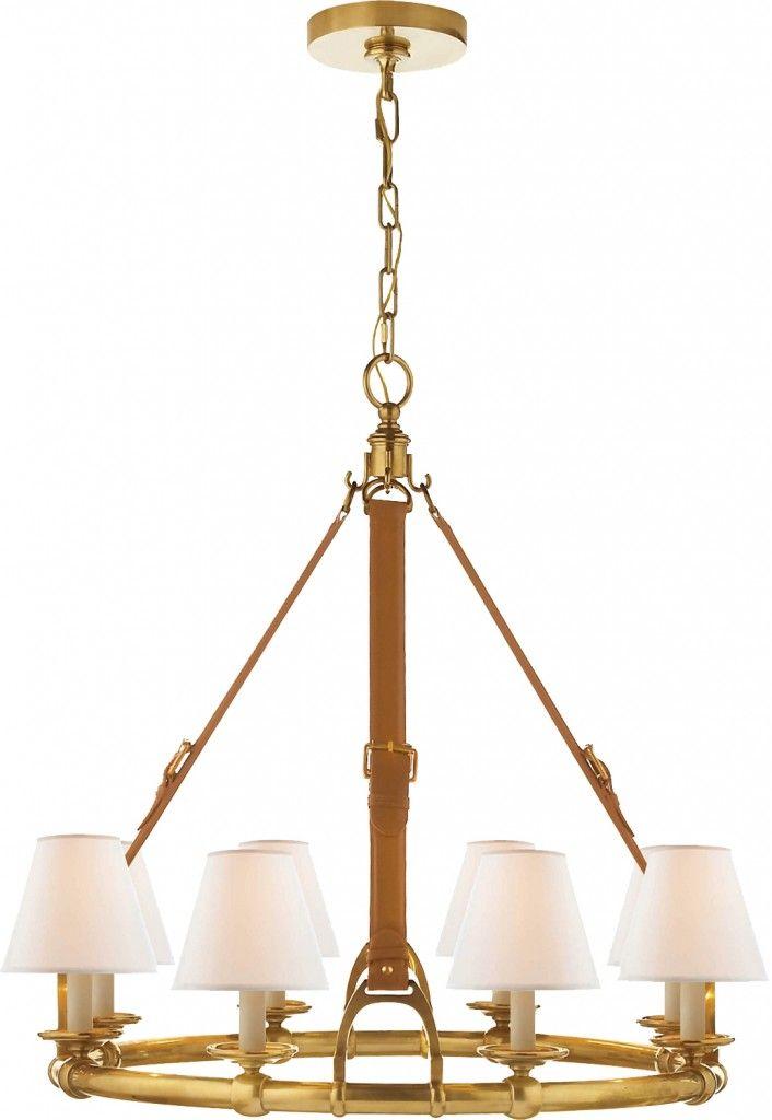 Wow factor Ralph Lauren Home equestrian theme chandelier Fresh