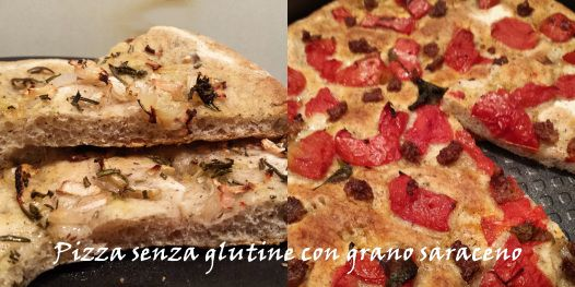 #pizza #senzaglutine con farina di grano saraceno rosmarino cipolla salsiccia pomodoro #glutenfree
