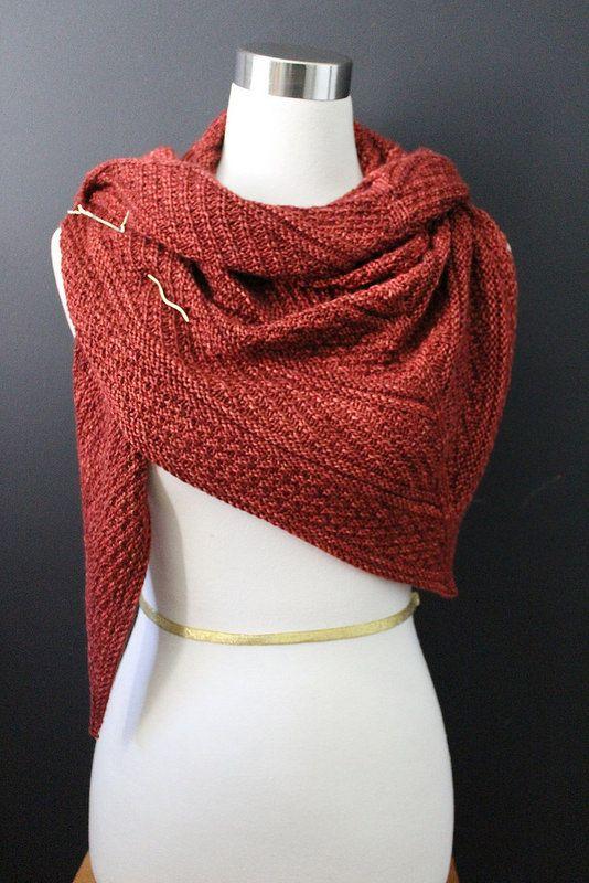 Guernsey Shawl knit pattern on Ravelry. Madelinetosh pashmina yarn ...