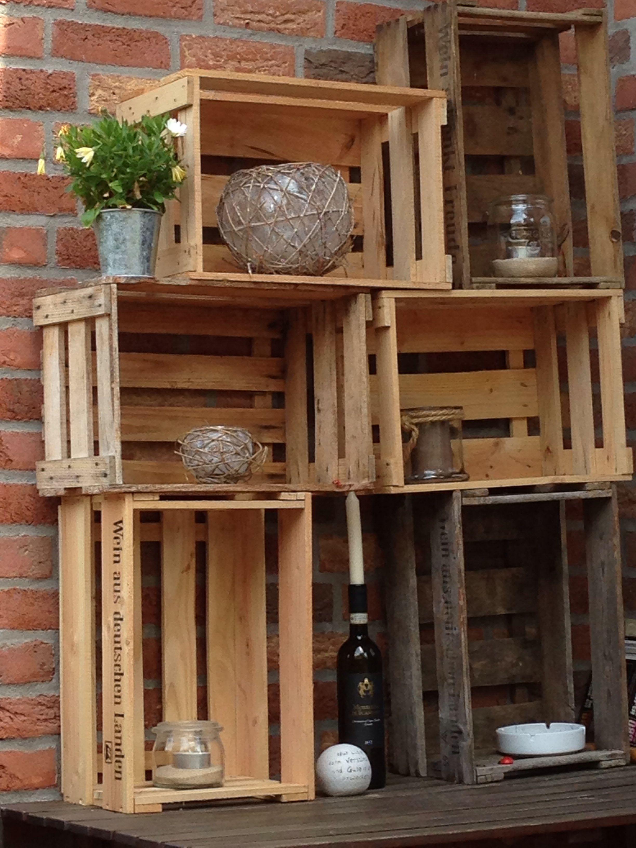 Gestapelte Weinkisten Als Ablagenöglichkeiten · ProjekteHaus Und  GartenPflanzenDekoProjectsPlants