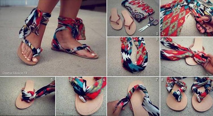 Alte Flip Flops Pimpen Mit Bildern Flip Flop Kleidung Selber