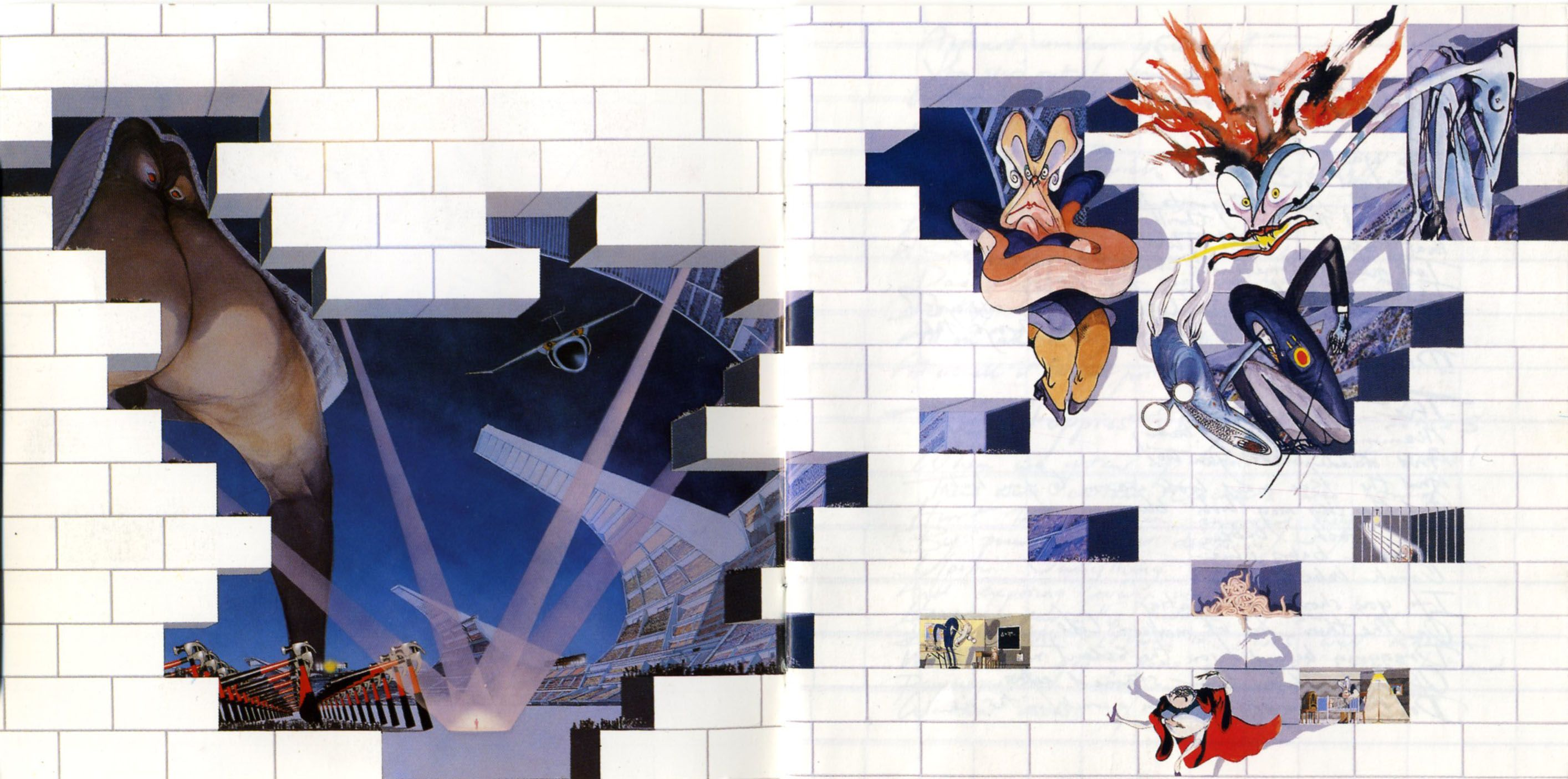 The Wall | Pink floyd artwork, Pink floyd art, Pink floyd