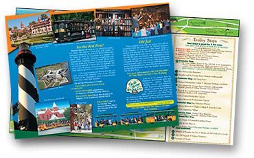 St Augustine FL Old Town Trolley Tours Brochure Terry Travel