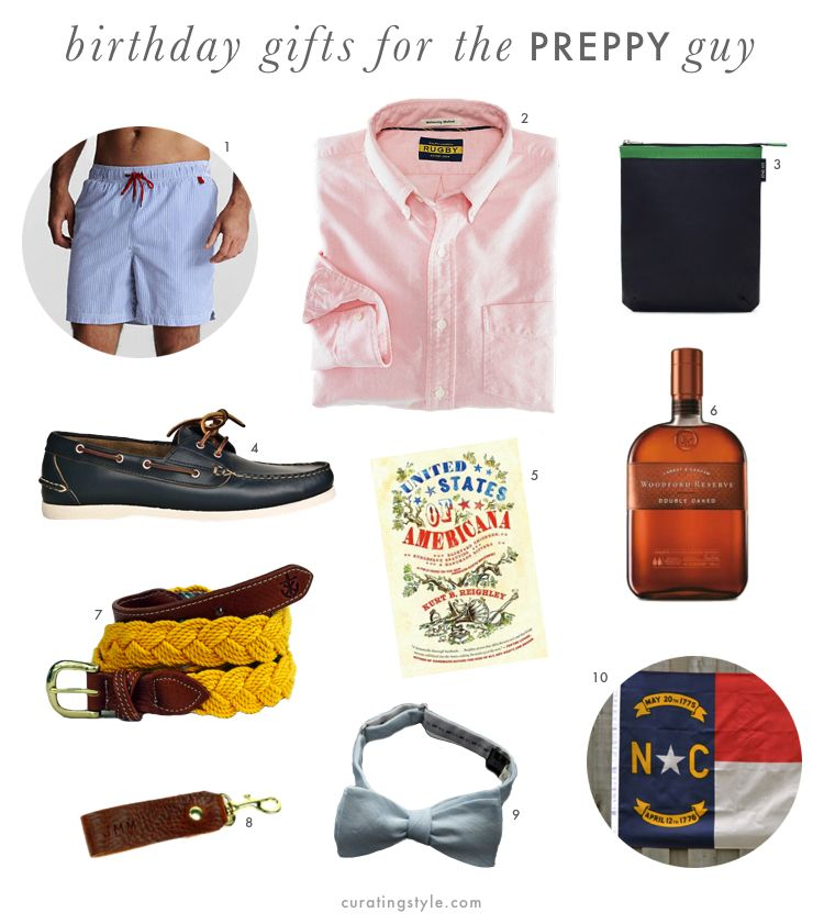 Preppy guys gifts for christmas