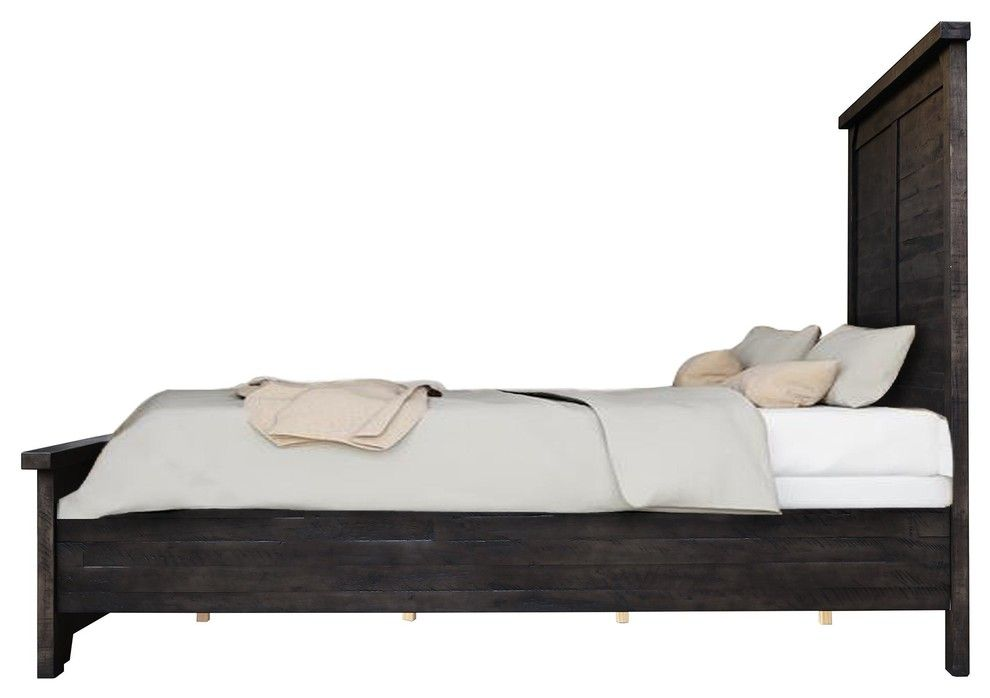 Bodie Gray Wooden Platform Bed King Wooden Platform Bed Bed