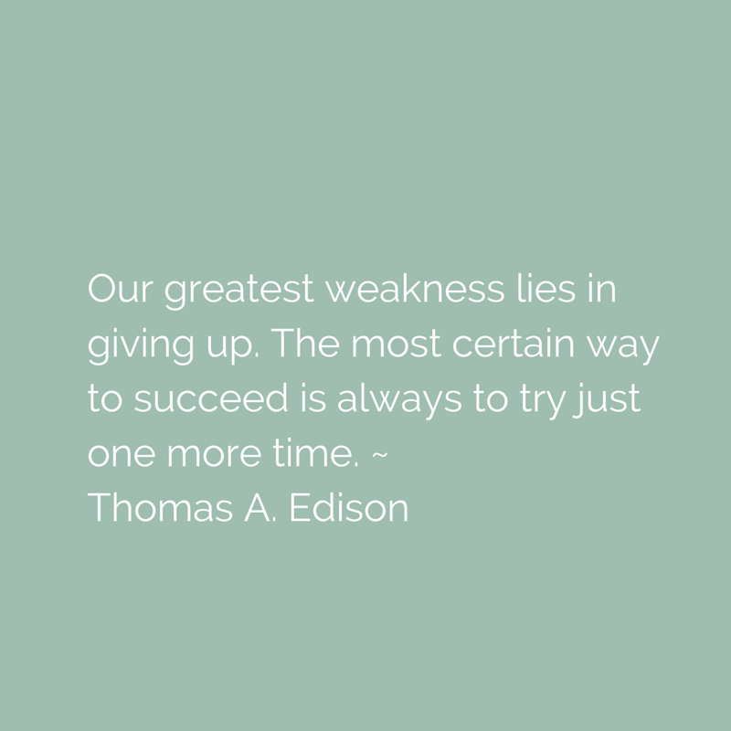 Our greatest weakness is giving up...#quote #inspiration