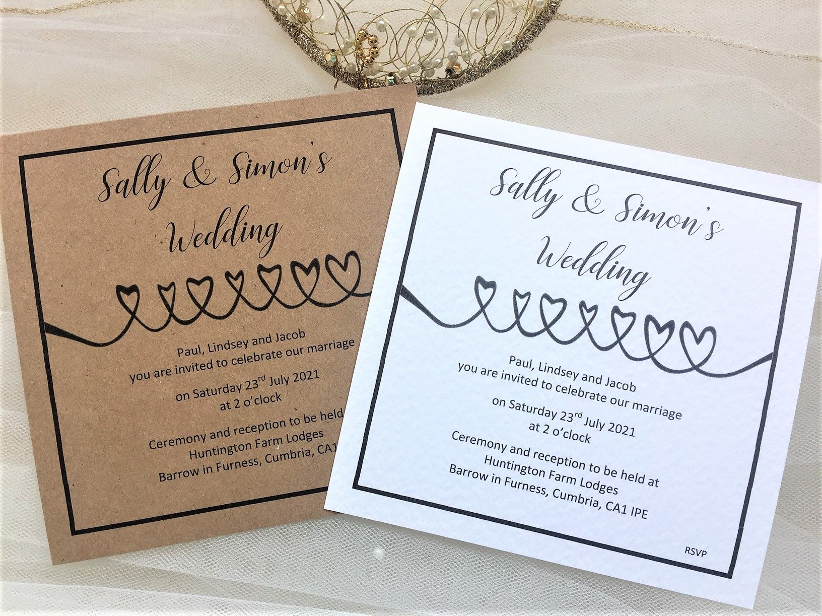 Linked Hearts Wedding Invitations 1 10 Each Free Guest Name Printing Heart Wedding Invitations Wedding Invitations Heart Wedding