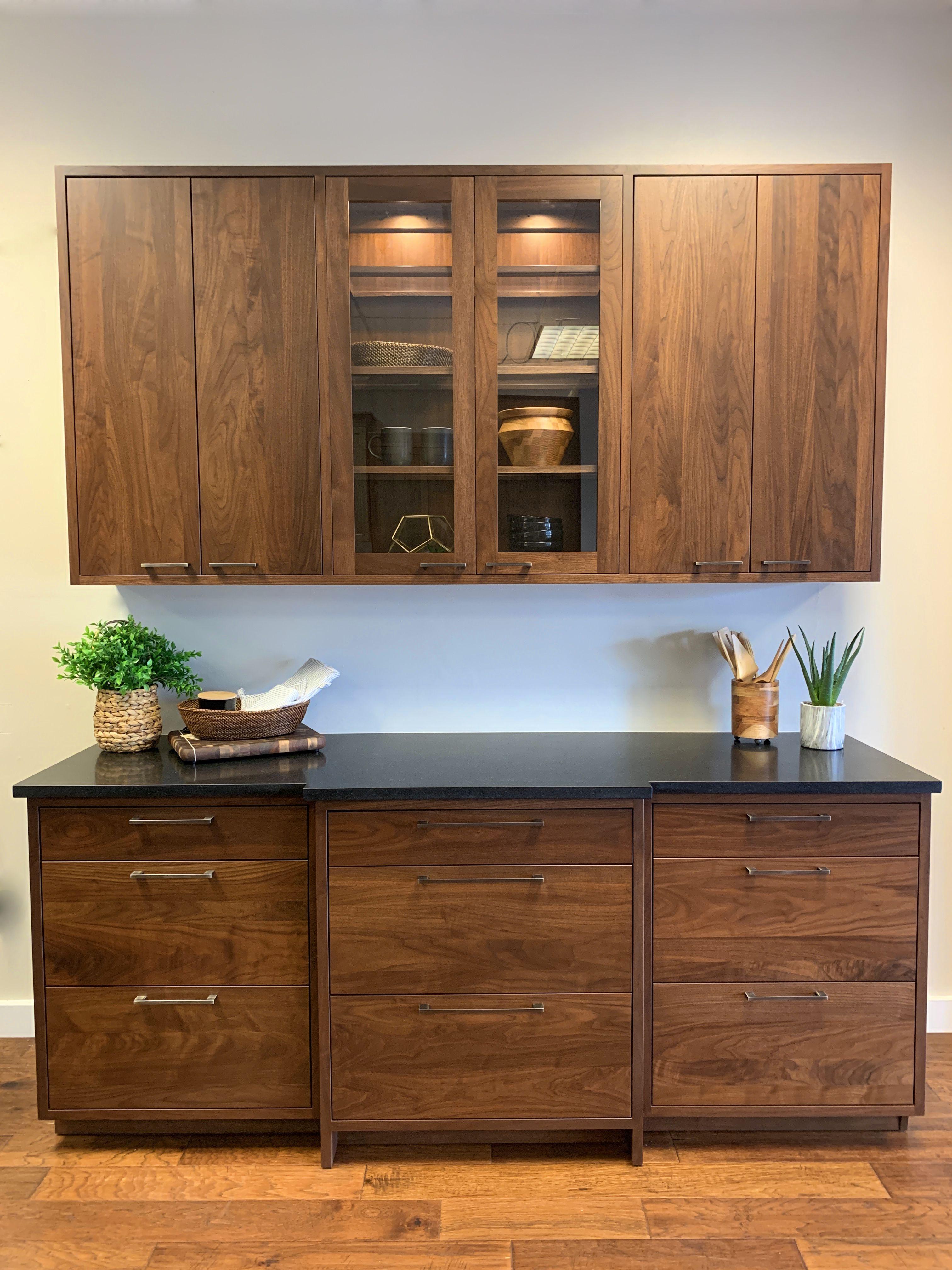 Custom Modern Kitchen Millers Dutch Haus Furniture Modern Walnut Kitchen Walnut Kitchen Walnut Kitchen Cabinets