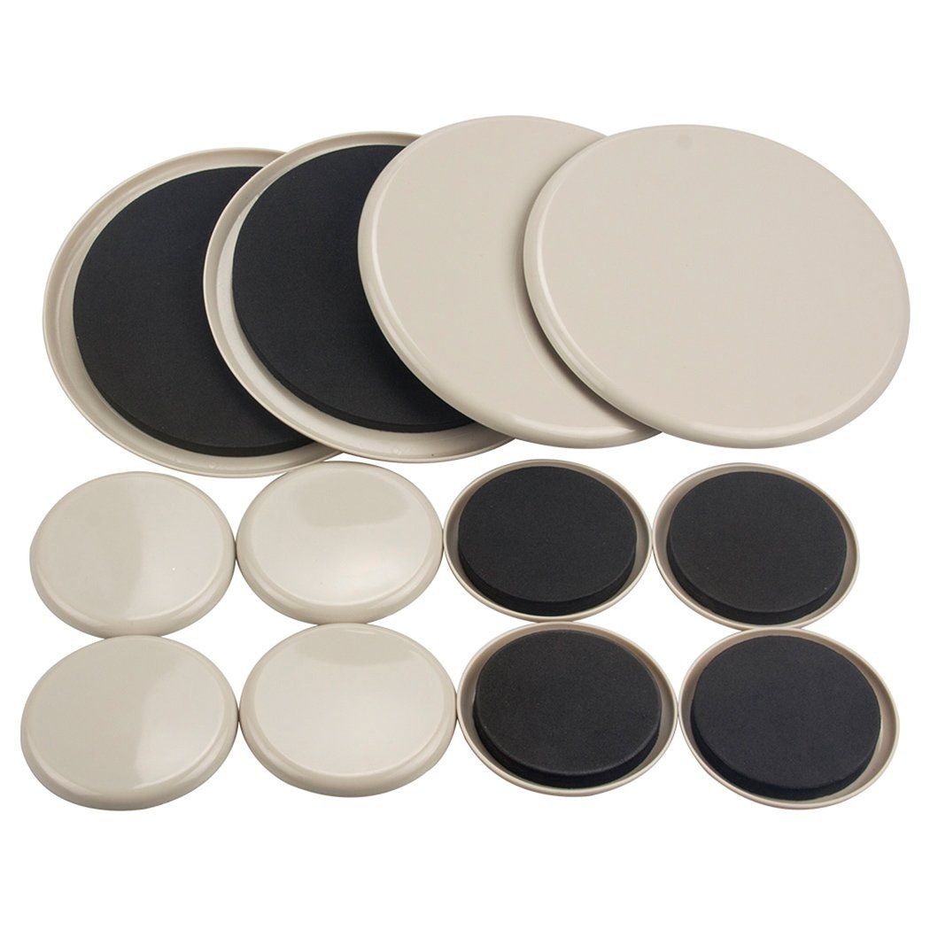 12pcs Furniture Movers 3 5 Inch And 7 Inch Plastic Sliders Multi Sizes For Carpet Hardwood Floors Furniture Sliders Furniture Movers Furniture Legs