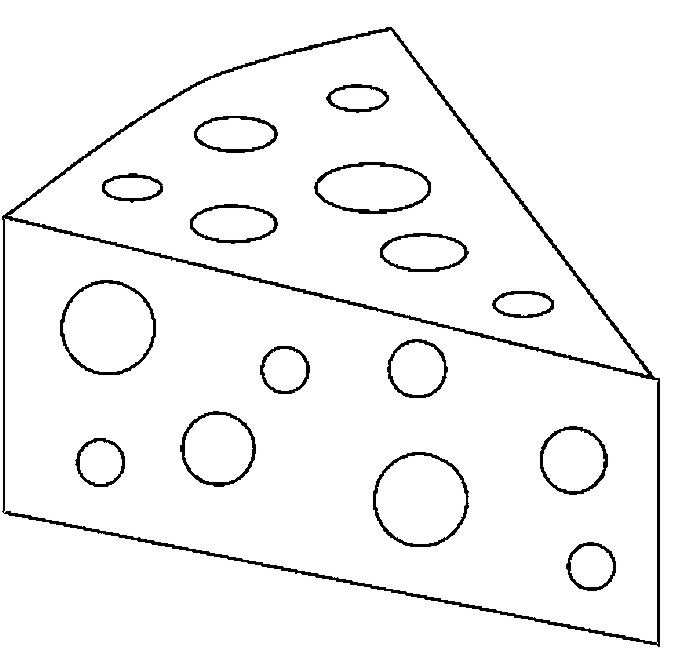 Cheese Slice Coloring Pages Coloring Pages Free Coloring Pages