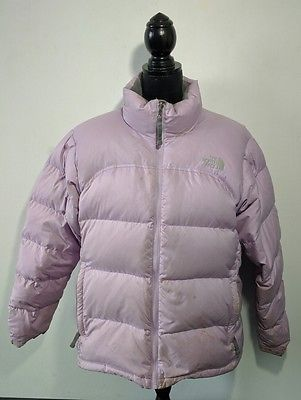 Womens The North Face 700 Down Puffer Jacket XL Light Purple Winter Defects 4a24e4862