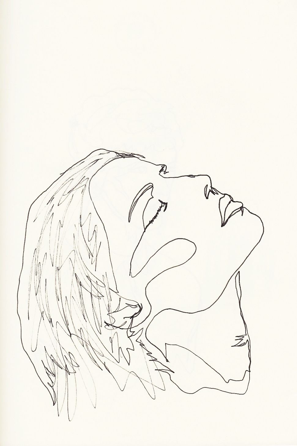 0xm continuous line drawing by me for more click here