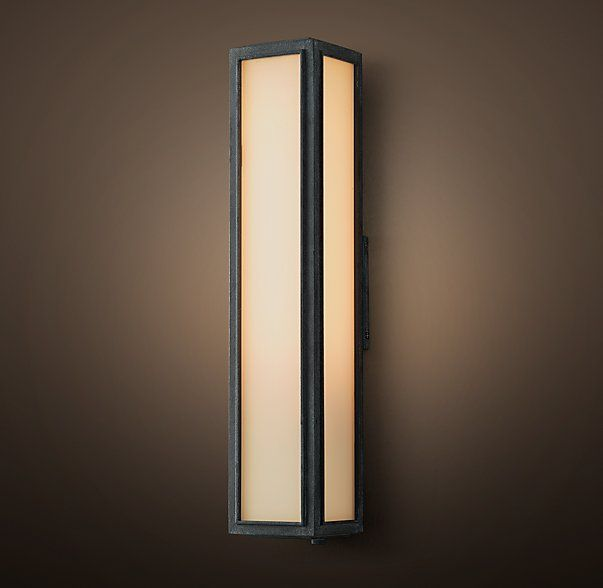 Union Filament Milk Glass Narrow Tall Sconce | Quayside inspiration ...