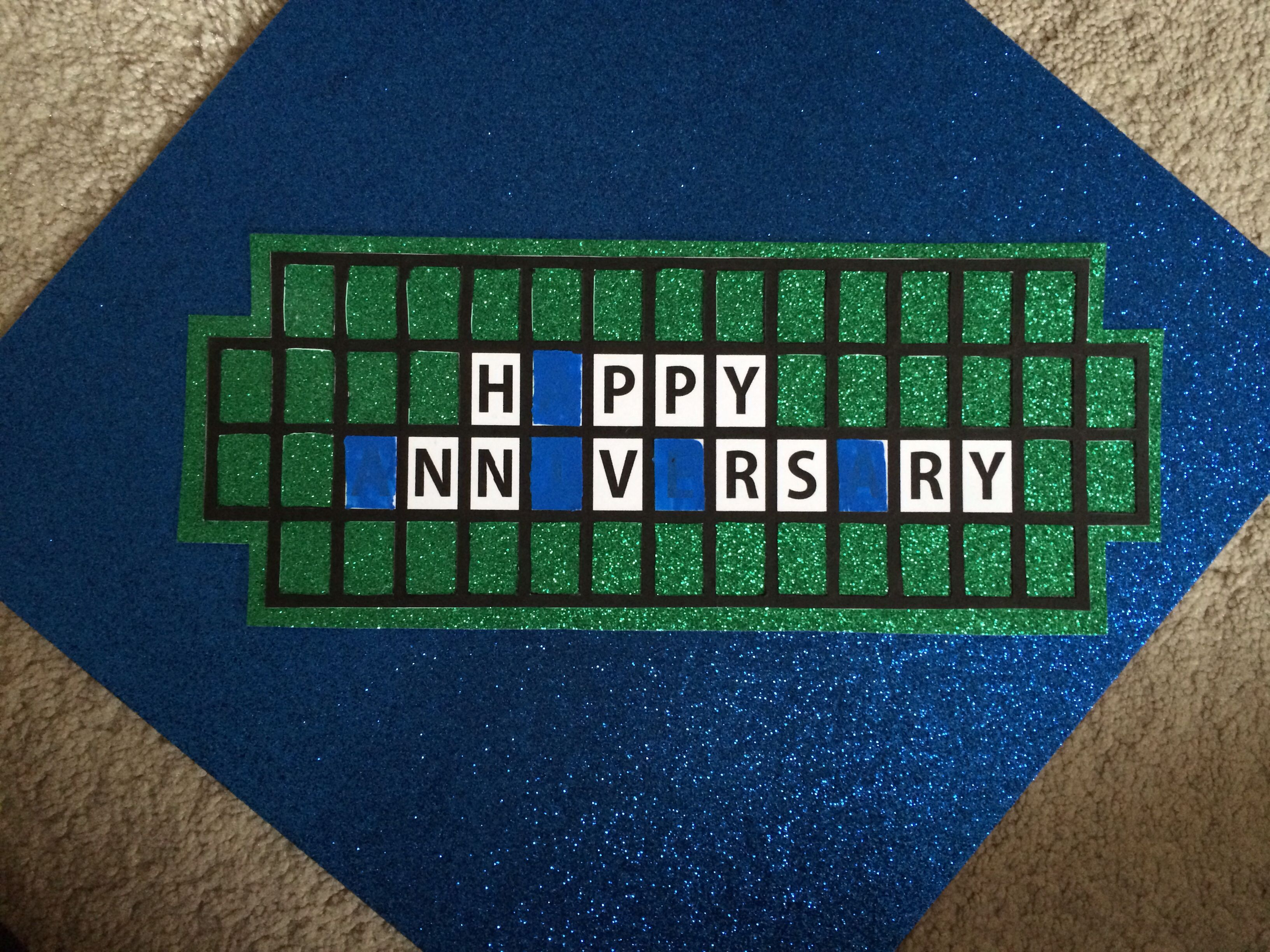 Diy wheel of fortune scratch off anniversary card cut clear tape