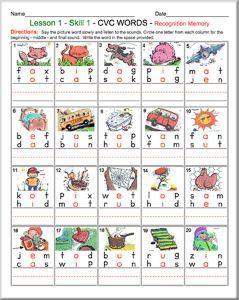 Free Phonics Worksheets And Phonemic Awareness Activities